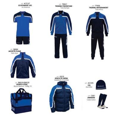 Комплект Футболни екипи Box Platinum, Navy Blue, GIVOVA