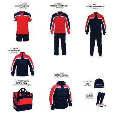 Комплект Футболни екипи Box Platinum, Red Navy, GIVOVA