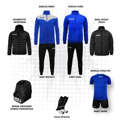 Пълно Футболна екипировка, Bomba New, Royal/Black, LEGEA
