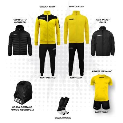 Пълно Футболна екипировка, Bomba New, Yellow/Black, LEGEA