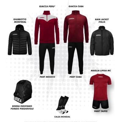 Пълно Футболна екипировка, Bomba New, Grena/Black, LEGEA