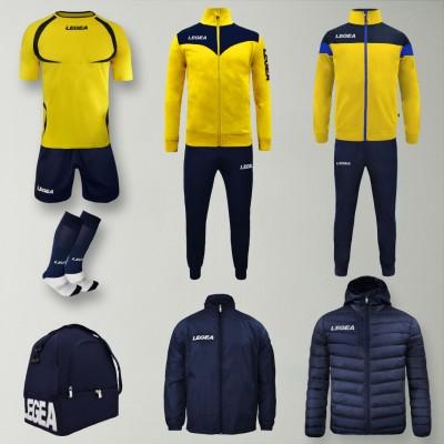 Пълно Футболна екипировка Forza, Yellow/Navy, LEGEA