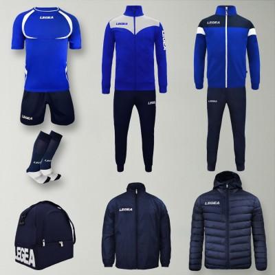 Пълно Футболна екипировка Forza, Royal/Navy, LEGEA