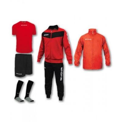 Спортен комплект Box Visa Red, Givova - 5 ч.