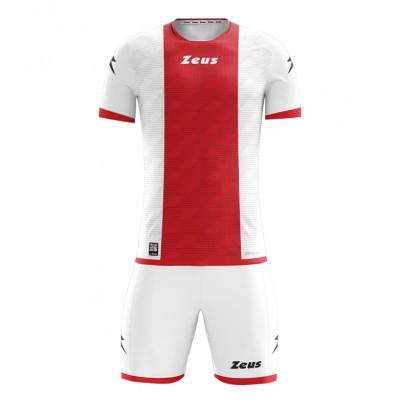 Футболна екипировка Kit Icon, White / Red, ZEUS