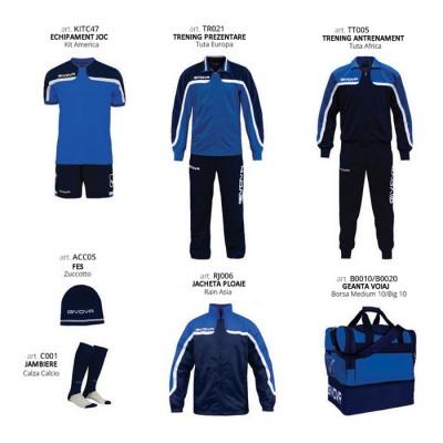 Комплект Футболни екипи Box Platinum Basico, Navy Blue, GIVOVA