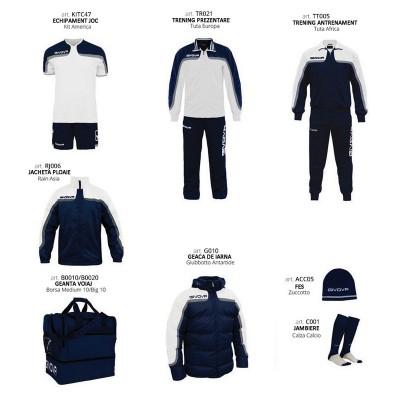 Комплект Футболни екипи Box Platinum, White Navy, GIVOVA