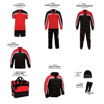 Комплект Футболни екипи Box Platinum, Red Black, GIVOVA