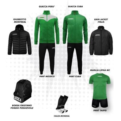 Пълно Футболна екипировка, Bomba New, Green/Black, LEGEA
