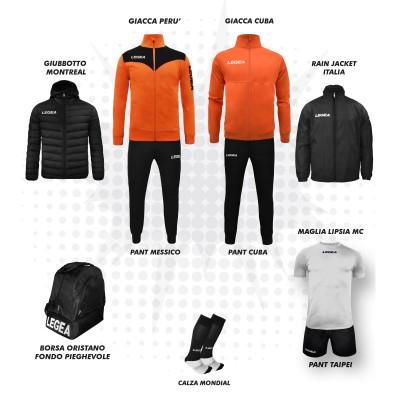 Пълно Футболна екипировка, Bomba New, Orange/Black, LEGEA
