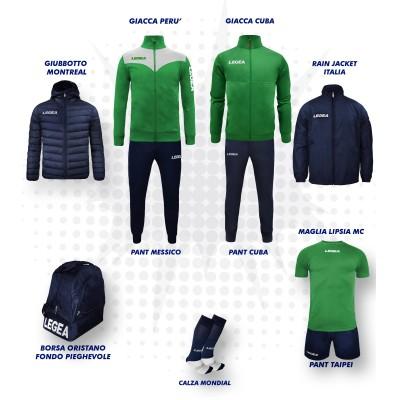 Пълно Футболна екипировка, Bomba New, Green/Navy, LEGEA