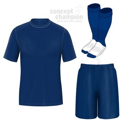 Поставете футболна риза, сортове и гамаши Concept Champion