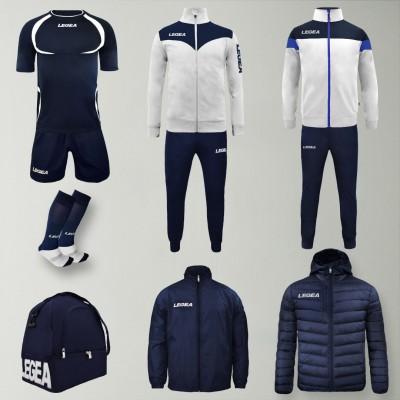 Пълно Футболна екипировка Forza, White/Navy, LEGEA