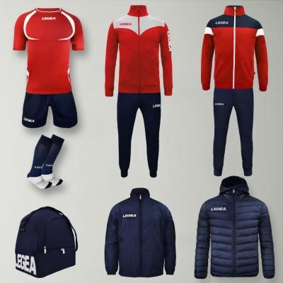 Пълно Футболна екипировка Forza, Red/Navy, LEGEA