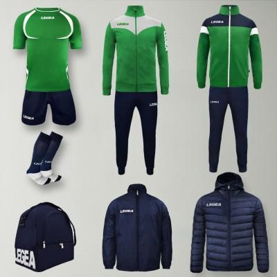 Пълно Футболна екипировка Forza, Green/Navy, LEGEA