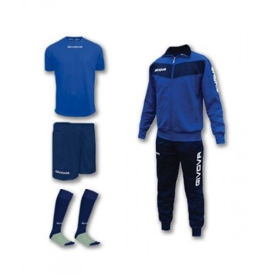 Спортен комплект Box Visa Blue, Givova - 4 ч.